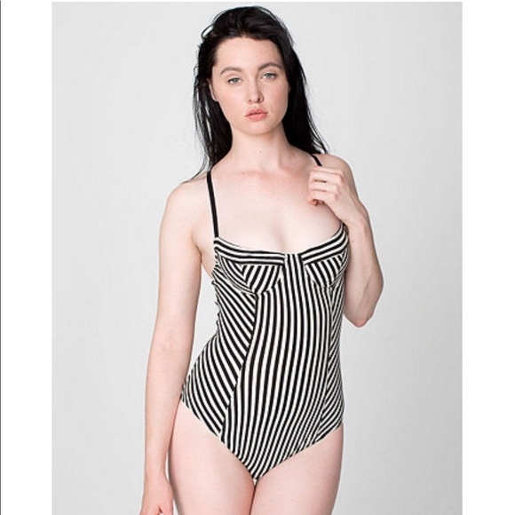 d6659d71f7 American Apparel Other - American Apparel striped underwire bra bodysuit